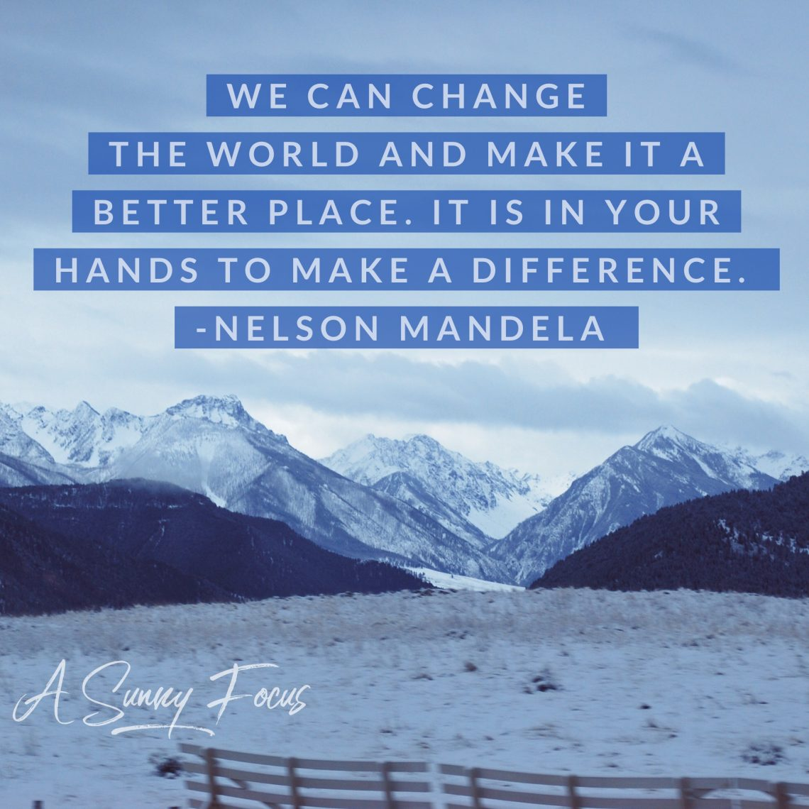 Your hands make a difference